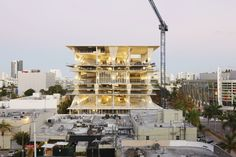 1111 Lincoln Road by Herzog & de Meuron and Robert Wennett is a mixed use car park in Miami Beach. It also includes shops, restaurants, art and residences.