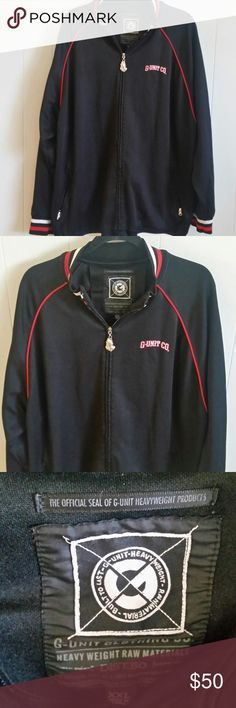 "VTG G Unit Clothing Co.Zip Up Jacket Size XXL VTG G Unit Clothing Co.  Zip Up Jacket Streetwear Size XXL Rap Hip Hop,  Praying Hands with Rosary on Zipper  Arm Pit to Arm Pit 27"" and 29"" Length G Unit Clothing Jackets & Coats"
