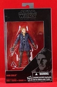 "Han Solo Star Wars The Black Series Exclusive 3.75"" Action Figure Free Shipping #Hasbro"