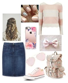 Cute? 🤔 by wonderfullyme64 on Polyvore featuring polyvore, fashion, style, Vero Moda, Boden, Converse, Candie's, Casetify and clothing