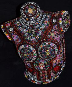 Day of the Dead mannequin torso by FlutterflyMosaics on Etsy