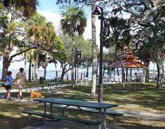 Pineapple Park in Melbourne, Florida  (historic downtown area --- E.New Haven Avenue --shops restaurants