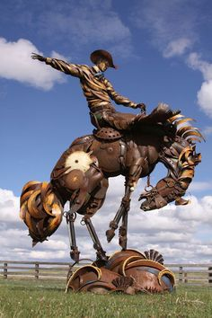 This Cowboy Made Amazing Sculptures Out of Old Farm Tools. They Will Blow Your Mind.