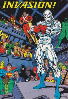 Bart Sears draws an Adam Strange, Captain Atom, Superman and more - ready for an Invasion!