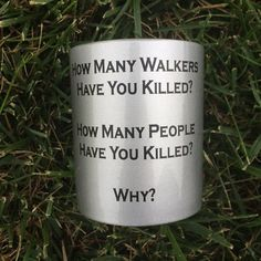 Three very important questions can make life much simpler if you remember to ask them before bringing someone new into your inner circle, and the Walking Dead Three Questions Mug will help you remember to ask them.  Life during a zomb