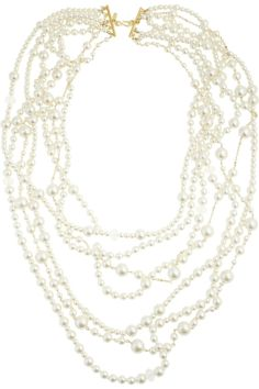 Kenneth Jay Lane   Gold-plated multi-strand glass pearl necklace   NET-A-PORTER.COM