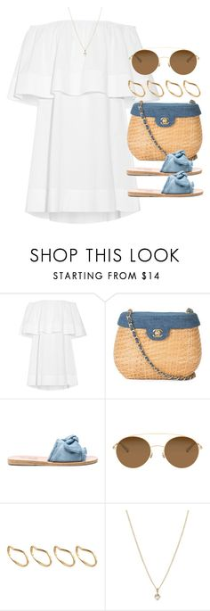 """Sin título #13058"" by vany-alvarado ❤ liked on Polyvore featuring Apiece Apart, Chanel, Ancient Greek Sandals, Mykita, ASOS and Laura Lee Jewellery"