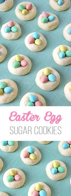 Make these Easter Egg Sugar Cookies for Easter! They're soft, chewy and so delicious!