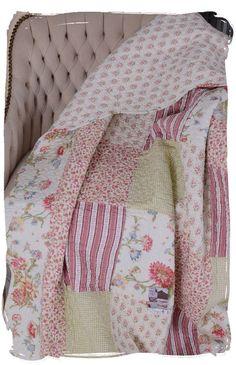Überwurf Sofadecke Patchwork Decke Vintage Tagesdecke Quilt Plaid Shabby Chic
