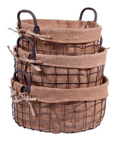 Take a look at this Round Farm House Basket Set by Home Essentials and Beyond on #zulily today!