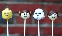 Lego Star Wars brownie pops
