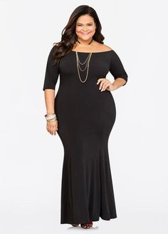 41363c3780a Off-Shoulder Mermaid Maxi Dress