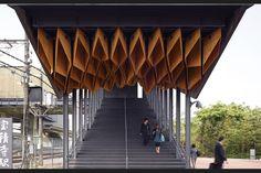Canopy at Hoshakuji Station by Kengo Kuma and Associates