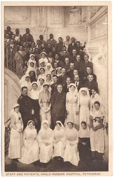 The Anglo-Russian Hospital in Petrograd opened in October 1915 & was handed over to the Russian Red Cross in 1918