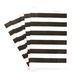 Medium Black Striped Paper Treat Bag | 20ct