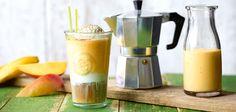 Bananen-Mango-Eiskaffee