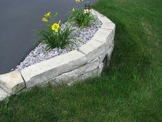 Driveway culvert stone wall