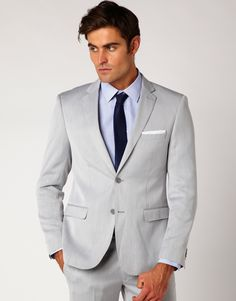light grey suit (with a coral tie) | Wedding Day 2018 | Pinterest