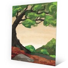 "Click Wall Art Bendy Tree Painting Print on Plaque Size: 14"" H x 11"" W x 0.04"" D"