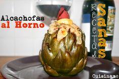 #Recetas Sanas. Unas originales #alcachofas al horno con salsa de avellanas y almendras. ¡Delicioso!