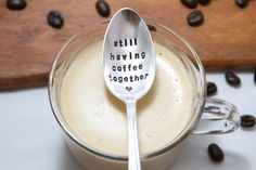 Still Having Coffee Together  Hand Stamped  by ForSuchATimeDesigns