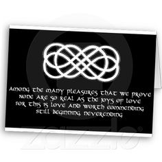 Neverending Celtic Love Knot and poem Greeting Card