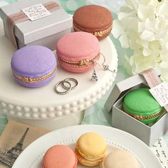 Macaroon Design Curio Favor Boxes