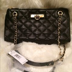 "HP DKNY Gansvoort Nappa Quilted Leather Bag. DKNY Gansvoort Nappa Quilted Leather Bag Brand New. Gold tone hardware. Dust Bag included. Apprx measurements 10.5"" length 6"" height. Adjustable straps - can be worn cross body or shoulder. DKNY Bags Shoulder Bags"