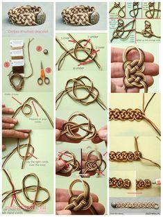 Sonsuz düğümlerden bileklik yapımı   Takı Tasarım   Pek Marifetli!
