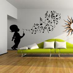 Wall Painting Decor, Home Decor Wall Art, Room Decor, Under Kitchen Sinks, Music Bedroom, Deco Studio, Music Wallpaper, School Decorations, Vinyl Wall Art