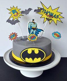 Batman Edible Cake Topper Kit By FabulousCakeKits On Etsy 1499 Toppers