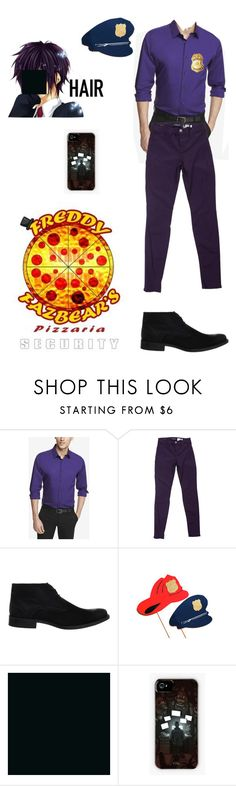"""""""Five Nights at Freddy's The Purple Guy Outfit"""" by ender1027 ❤ liked on Polyvore featuring Express, J Brand and Hush Puppies"""