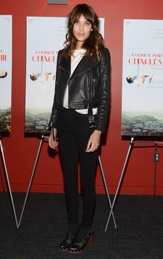 Alexa Chung leather punk jacket
