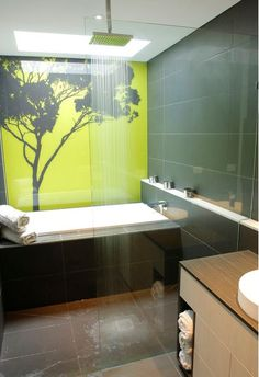 Forest Shower Splashback Love This Idea But Don T Think