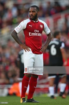 Alexandre Lacazette Photos - Alexandre Lacazette of Arsenal during the Emirates Cup match between Arsenal and Sevilla FC at Emirates Stadium on July 2017 in London, England. - Arsenal v Sevilla FC - Emirates Cup Great Team, Arsenal Fc, Lionel Messi, London England, Superstar, Soccer Stuff, Squad, Sports, Collection