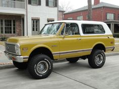 First Gen Blazer in Ochre. 67 72 Chevy Truck, Chevy 4x4, Lifted Chevy Trucks, Classic Chevy Trucks, Gm Trucks, Jeep Truck, Chevrolet Trucks, Cool Trucks, Pickup Trucks