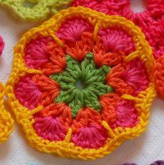 fleur africaine au crochet Tutoriel détaillé en français