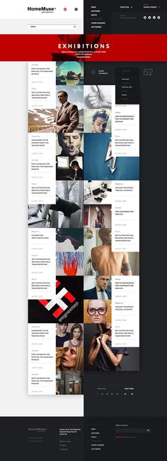 HomeMuse Gallery by Sergei Gurov, via Behance. #webdesign #design pinned by DesignHandbook.net