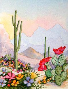 S W Saguaro in desert
