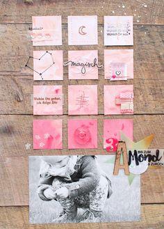 Bis zum Mond und zurück / Steffi Ried #scrapbooking #papierprojekt #cratepaper #momentstempel #art