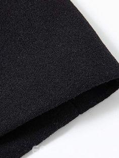 71c4028326d Ericdress Plain Zipper Button Mens Winter Wool Coat