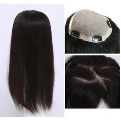 Details about Hand Tied Realistic SILK TOP human hair toppers top piece for women Hair Extensions For Sale, Real Human Hair Extensions, Human Hair Clip Ins, 100 Human Hair, Bun Hair Piece, Hair Pieces, Long White Hair, Hairpieces For Women, Hair Products Online