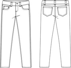 garment flat sketches for men - Google Search