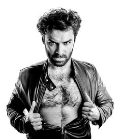 Hello there, Aidan. Why, you look manlier than usual when you rip open your leather jacket. And what a fine, furry chest you have there. Mind if I touch it....?