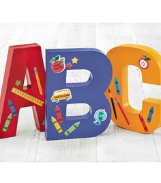 Painted A,B,C Letters | Classroom decorations