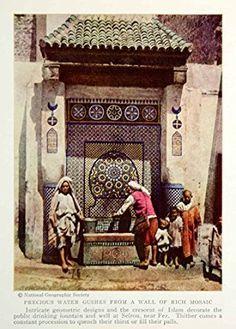 1935-print-public-water-fountain-islamic-mosaic-sefrou-fez-fes-morocco-kid-ngma5-original-halftone-print_25810191.jpeg (319×445)