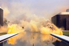 Set off rainbow-coloured smoke bombs in your house, courtesy of Judy Chicago