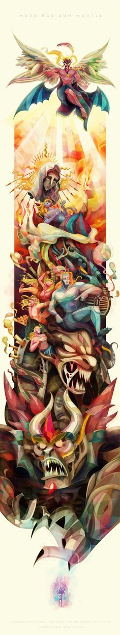 """a sleeve tattoo would be awesome! Dancing Mad by Lerms """"A tribute to my favorite villain and videogame-end-boss: Kefka from Final Fantasy VI"""""""