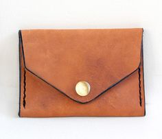 Tan Leather Pocket Wallet.