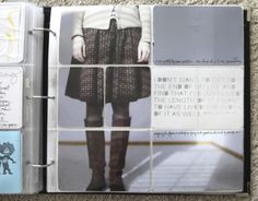 Project Life - Ali Edwards - love the enlarged photo cropped and highlighting the details - fab boots & fashion of the day